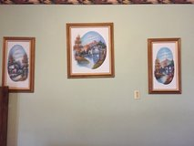 3 Framed Canvas Paintings in Fort Campbell, Kentucky