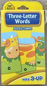 School Zone Three Letter Words Puzzle Cards in Okinawa, Japan