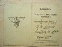 1938 Contribution Card (Beitragskarte) for German Officials in Wiesbaden, GE