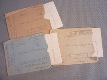 Three WWII Feldpost letters, w/envelopes in Wiesbaden, GE