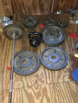 Weight Sale - Lots of barbell and plates in Byron, Georgia