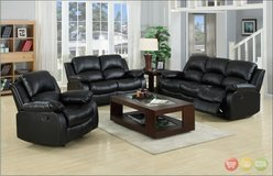New! GENUINE LEATHER TOP GRAIN  QUALITY SOFA LOVE 2PC RECLINER LIVING ROOM SET! in Camp Pendleton, California