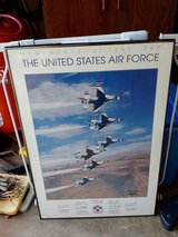 Large framed picture of Air Force Thunderbirds in Warner Robins, Georgia