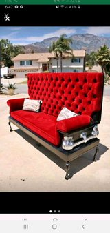 Casket couch in Camp Pendleton, California
