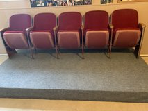 movie seats with handmade foot rest in Fort Leonard Wood, Missouri