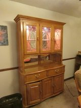 Oak China Cabinet with light in Algonquin, Illinois