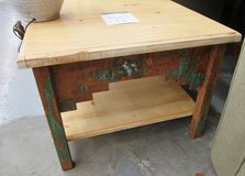 Pine Side Table with a Southwestern Flair in Chicago, Illinois