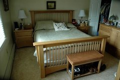 Queen Bed and Night Stand in Joliet, Illinois
