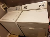 GE Washer and Whirlpool gas dryer in Plainfield, Illinois