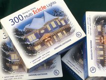 Four Boxes of 300 Icicle Christmas Lights in Glendale Heights, Illinois