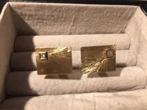 14K cuff links with diamonds in Ramstein, Germany