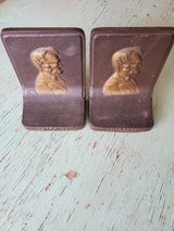 Cast Iron Abraham Lincoln 1920s Bookends in Alamogordo, New Mexico