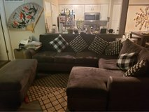 sectional couch sofa with storage ottoman in Joliet, Illinois