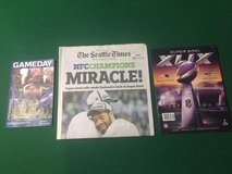 "SEAHAWKS 2015 Superbowl Run (Divisional Game Day, Times ""Miracle"" Newspaper, and XLIX Program in Tacoma, Washington"