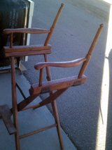 Director's chair, wood in Alamogordo, New Mexico