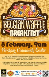 Waffle Breakfast in Fort Leonard Wood, Missouri