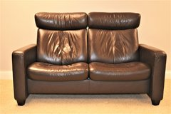 Leather Sofa Loveseat, Stressless  by Ekornes (slightly used) in Naperville, Illinois