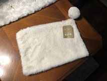 New White Fur Zippered Make-Up Bag - Pier 1 in Naperville, Illinois