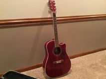 Acoustic guitar with case in Plainfield, Illinois