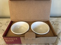 Longaberger 2 pack Ivory Dessert Bowls in Westmont, Illinois