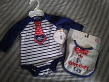 Valentine outfit NEW 0-3 months in Travis AFB, California