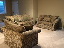 Couch, loveseat and chair OBO will separate in Joliet, Illinois