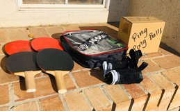 Ping pong paddle set and extras in Travis AFB, California
