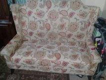 pier 1  small  love seat and matching curtains cushions in Fort Campbell, Kentucky