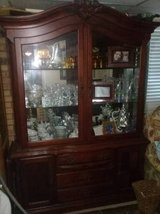 china cabinet huge heavy two piece with light in Fort Campbell, Kentucky