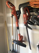 Black and Deck weed trimmer & battery operated hedge trimmer in Travis AFB, California