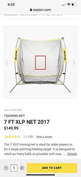 Easton XLP 7' net in Travis AFB, California