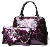 ***BRAND NEW***Three Piece Patent Leather Handbag*** in Cleveland, Texas
