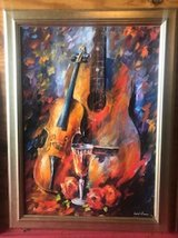 Beautiful classical guitar and violin picture w frame in Kingwood, Texas