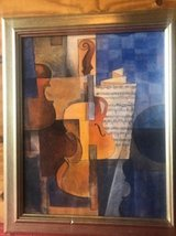 Beautiful framed picture of a violin and musical notes/theme in Houston, Texas