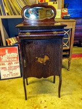 antique music cabinet with the original key in Cherry Point, North Carolina