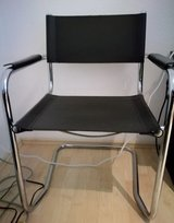 2 desk chairs real leather+stainless steel in Ramstein, Germany