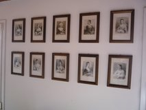 10 antique prints with frame in bookoo, US