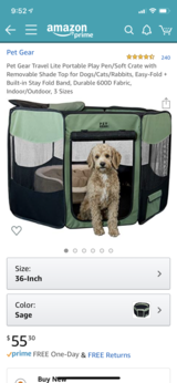 Pet Gear Portable Play Pen in Plainfield, Illinois