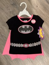 NEW WITH TAG - Toddler Girl Batgirl Short Sleeve Shirt with Cape. Size 2T. in St. Charles, Illinois