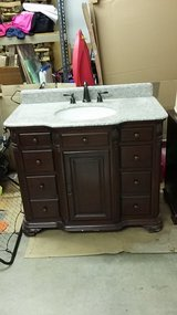 Furniture quality granite top vanity in Naperville, Illinois