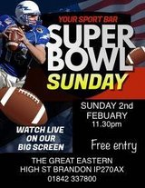 Come and see the super bowl with us? in Lakenheath, UK