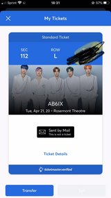 AB6ix Concert Ticket for Chicago in Joliet, Illinois