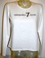 New! Sz Large Trussardi Jeans Women's Cotton Stretch Jersey Top / Long Sleeve T-Shirt in Orland Park, Illinois
