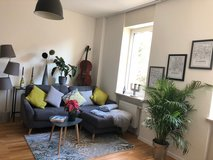 very nice couch - grey with cushions in Wiesbaden, GE