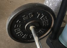 Barbell with 4 weights in Alamogordo, New Mexico