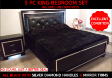 5 PC King Bedroom Set in Bellaire, Texas