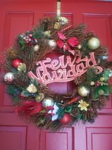 Christmas wreath in Kingwood, Texas