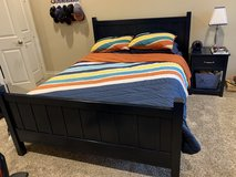 Pottery Barn Kids Navy Camp Bedroom Furniture Set * Queen Bed, Desk, Dresser, Nightstand in Kingwood, Texas