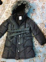 Warm and cozy girls long  puff coat size 6 in Travis AFB, California