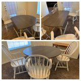 Drop leaf round table/4 chairs in Fort Hood, Texas